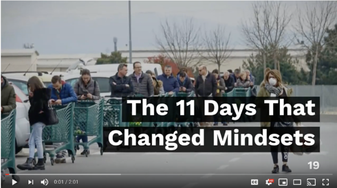 COVID-19: The 11 Days That Changed Mindsets
